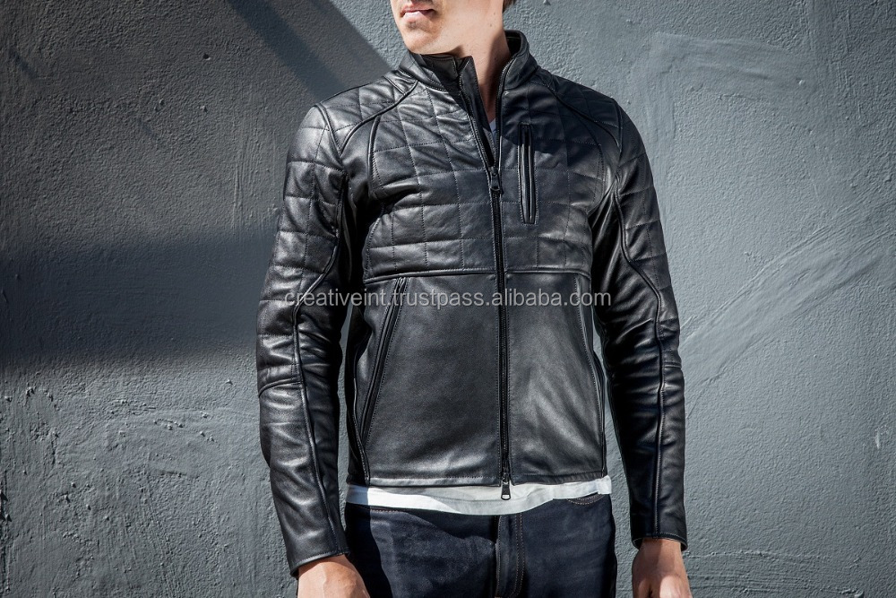 2016+17 new arrival fashion with men leather jacket in our wholesale/Sialkot/Pakistan