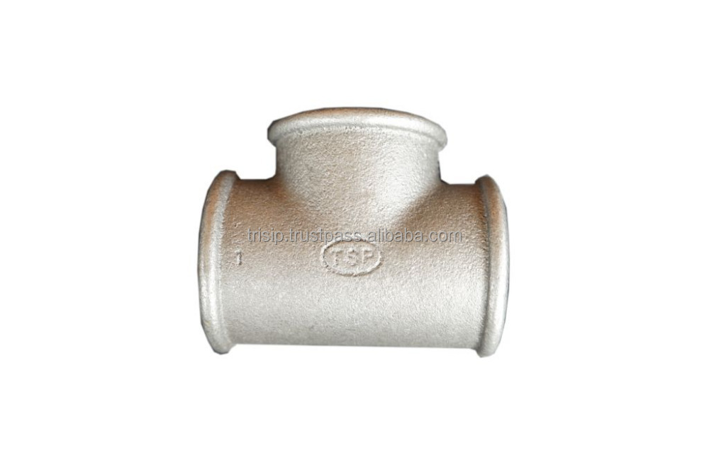 Beaded Tee, Galvanized Malleable Cast Iron Pipe Fittings BS Thread