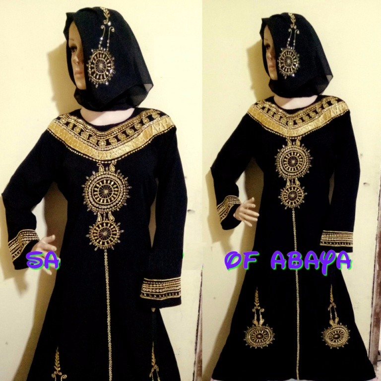 Beautiful Sun Black Abaya