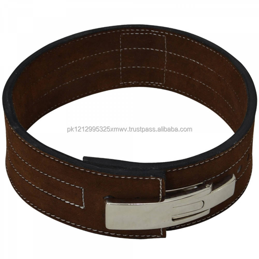 The first layer leather men's weightlifting belt leather belt
