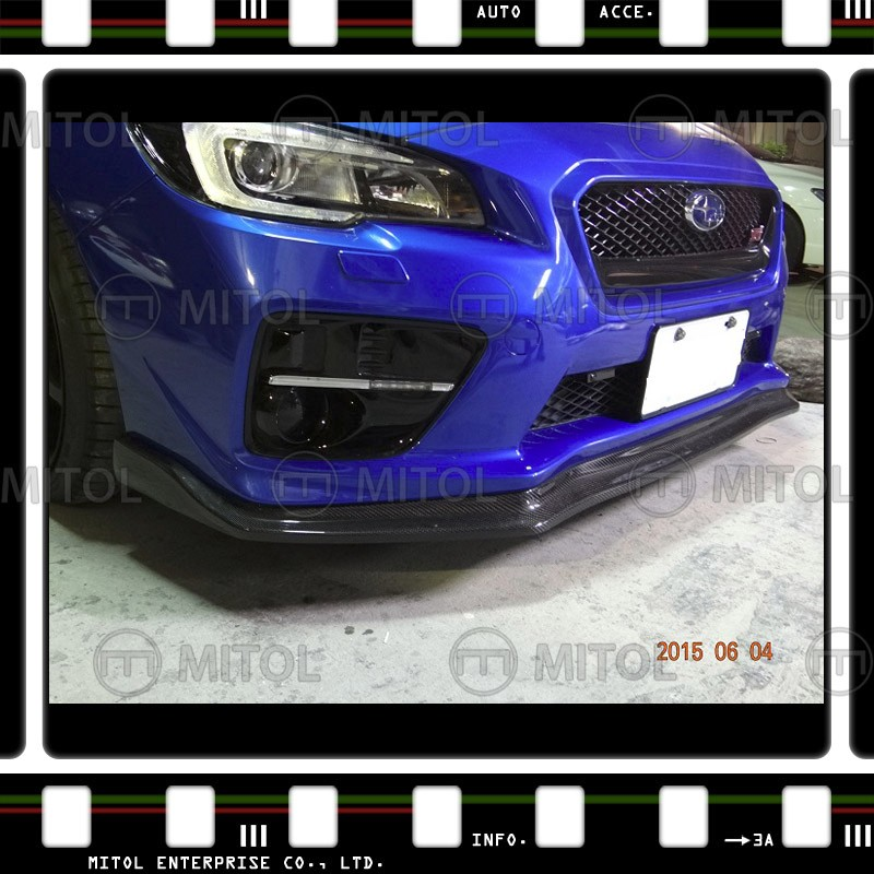 Fit for 14-on SUBARU WRX CS Style Front Bumper Lip - Carbon Fiber Body Kits