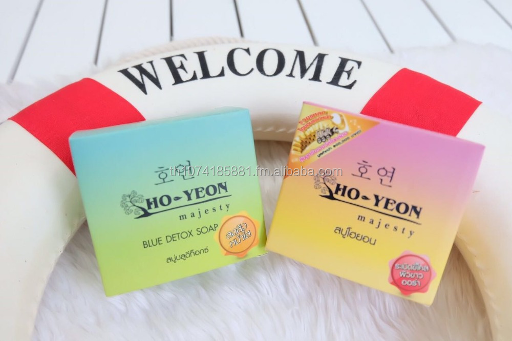 HO-YEON soap for body skin treatment Whitening skin by ginseng , Arbutin, macus of snail,vitamin B3