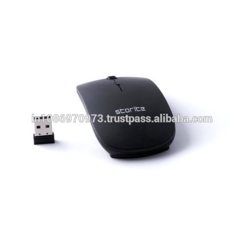 Storite by SaiTech IT - Ultra Slim Wireless Mouse 2.4 GHz With Nano Receiver (Black)
