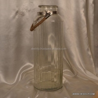Glass Jars Quilted Crystal Mason Jar Clear Glass Honey Pot Jars