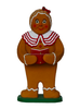 Ginger bread girl with book