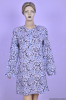 Floral Kurti Indian Hand Block Print Cotton fabric Kurta / Tunic Kurti Dress Throw Top