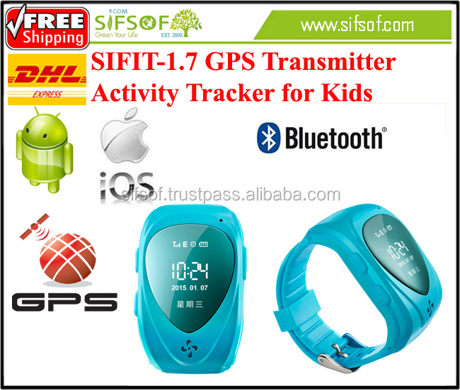 SIFIT-1.7 GPS tracker for Kids. GPS Activity tracker 2015 Style.