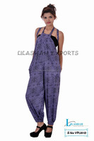 VP2810 Cotton Printed jumpsuits Dresses jump suit long cotton jumpsuit for women