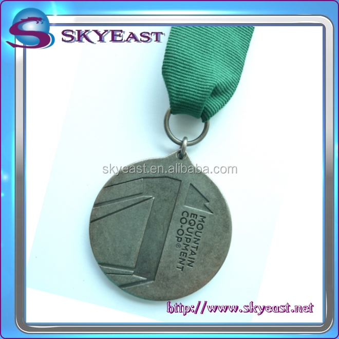 Wholesale Customized Logo Sport Metal Medals with Ribbon