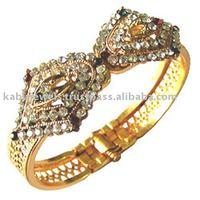 Golden plated indian style diamond bangles, fashion jewelery