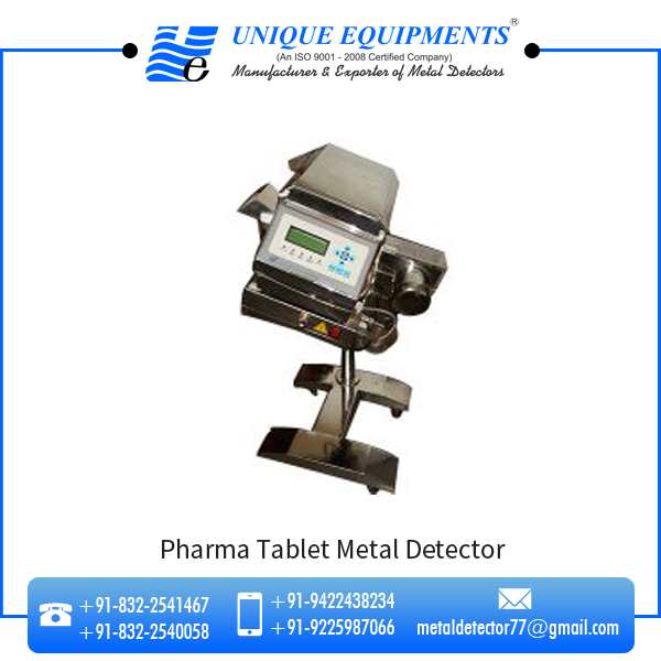Highly Accurate Pharma Tablet Metal Detector at Lowest Market Price