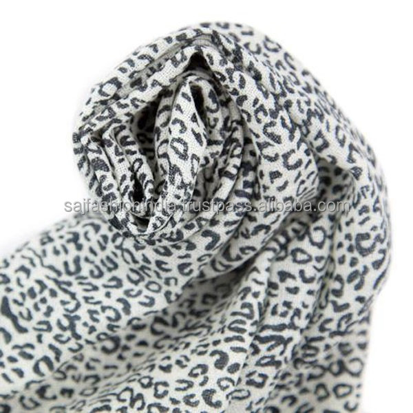 leopard print scarf animal grey shawl pashmina