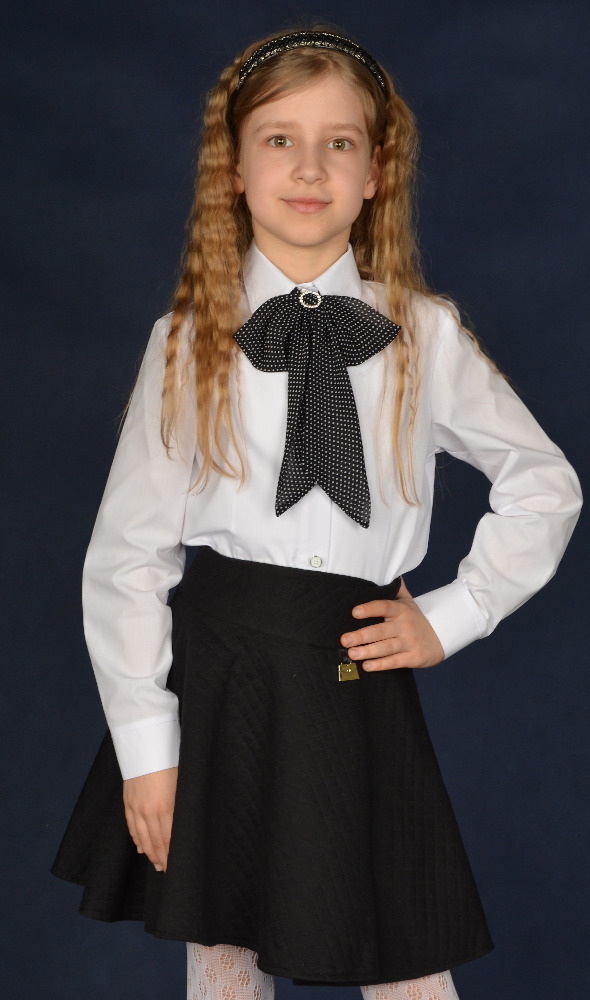 Top high quality fashionable white school uniform manufacturer