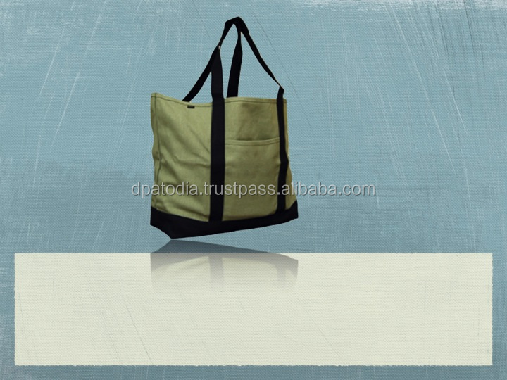 Recycled Organic Canvas XL Shopping Tote Bag