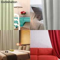 99.99% shading rate flame retardant ready-made curtain design for hall