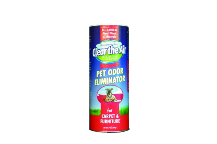 Clear the Air Pet Odor Eliminator Absorbs and neutralizes odor, Safe to use around children and pets, Biodegradable, Non-flamma