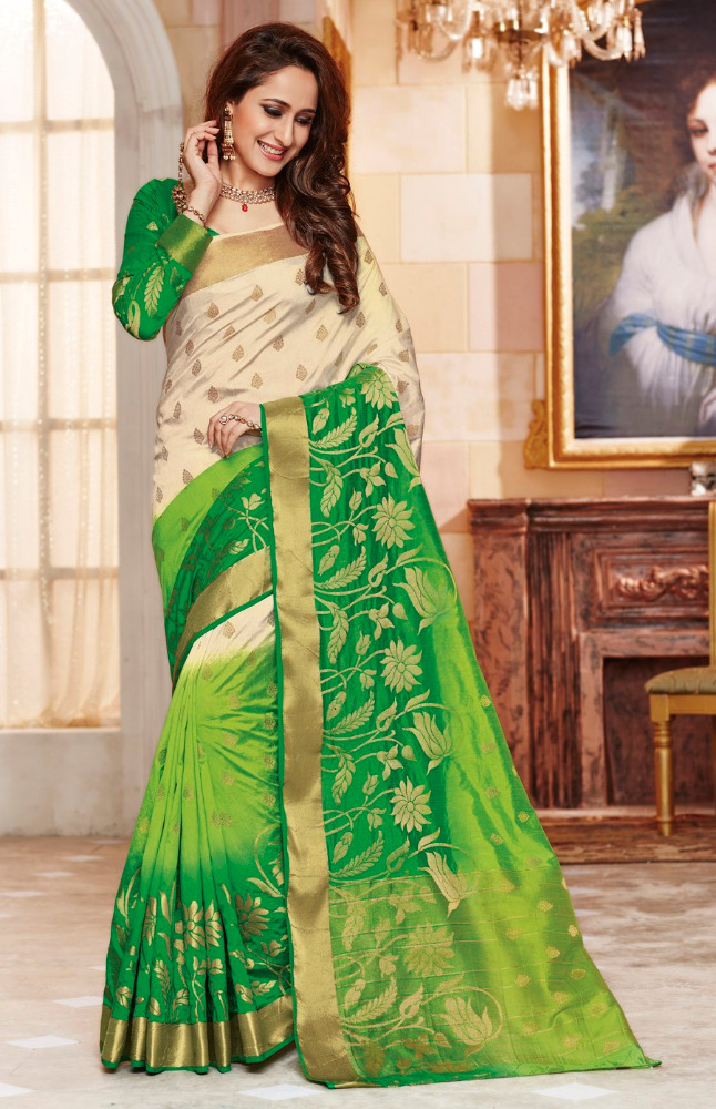 plain saree with border designs