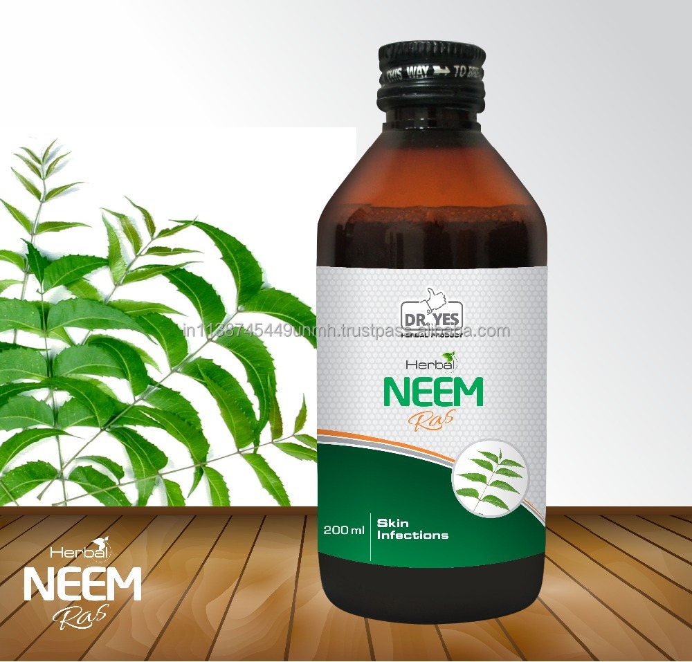 Dr. Yes Herbal Neem Ras for Skin Infections, Acne Pimples, Eczema, Itchiness