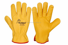 Safety equipment working leather gloves truck driver gloves