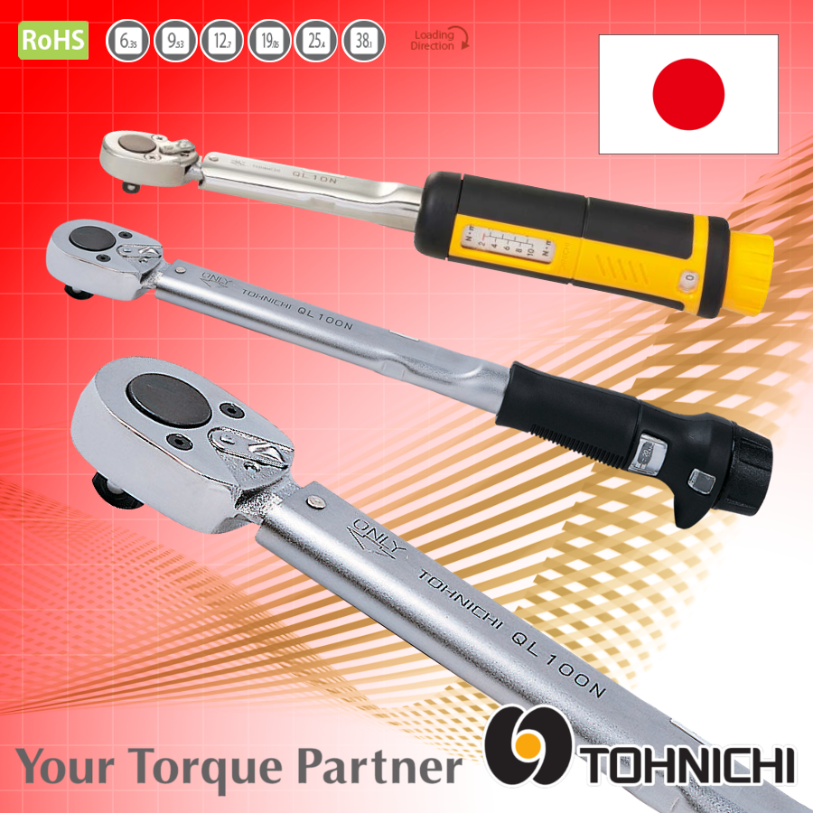 Accurate and Steady tighten bolts tool, Tohnichi QL/QL series made in Japan
