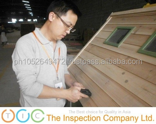 Wooden House Pre-Shipment Inspection in China