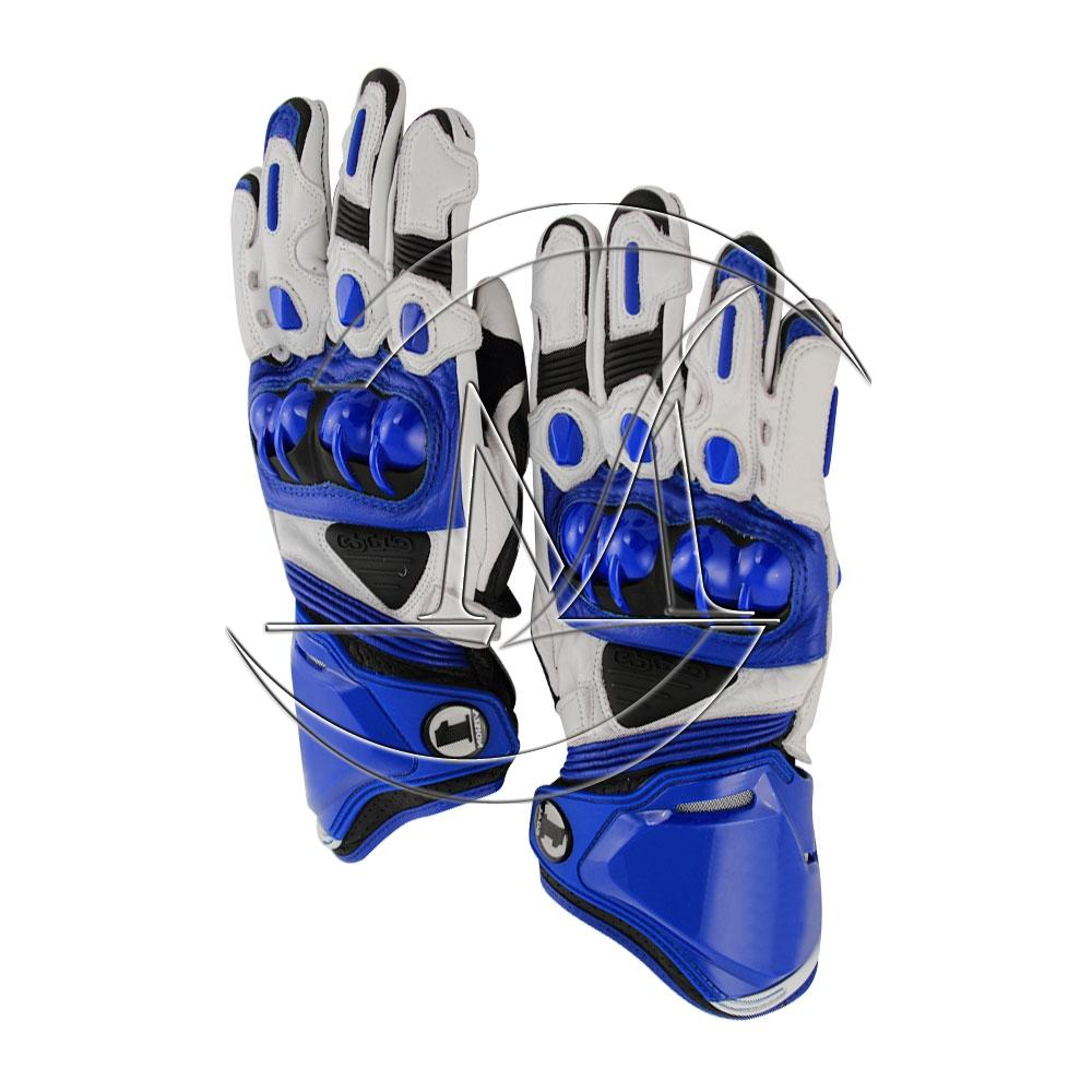 Mark motorbike racing Leather Gloves