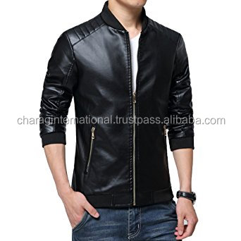 Factory Price new fashion black motorcycle leather jacket fashion real leather jacket