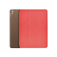 Wholesale Case for iPad Pro, Cube Series Tri-fold Detachable Smart Leather Case for iPad Pro 9.7 inch - Red