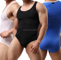 Newest-Super-Soft-and-Elastic-font-b-Gym-b-font-Clothes-Men-One-Piece-Shapers-Solid