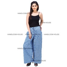 Fashion Ladies Casual Pleated Wide Leg Loose Cotton Palazzo Pants Unisex Yoga Pants