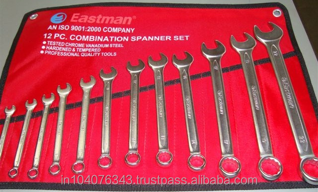 Eastman Combination Spanner Set (Elliptical Panel 12 Pcs Set) Hand Tool
