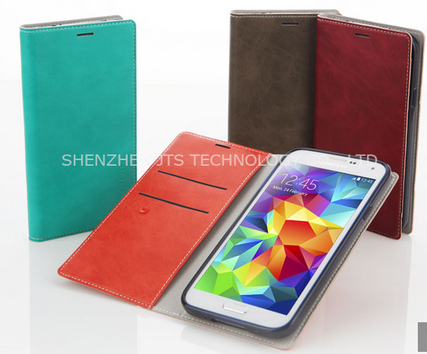 New Leather Mobile Phone Flip Cover Case / Card Slots Flip Case