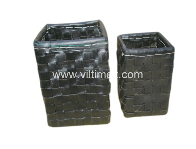 Recycled Rubber Woven Baskets