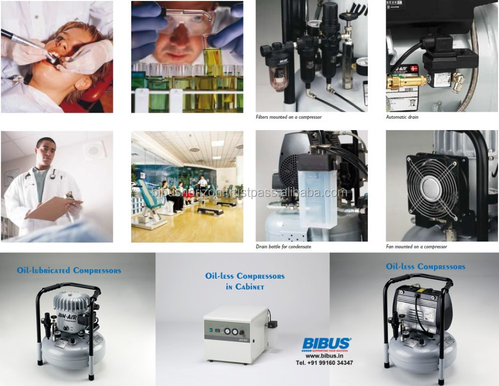 Air Compressors for Dental, Laboratory and Ventilators