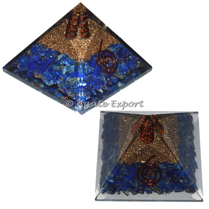 White Howlite Orgone Pyramids with Crystal Point : Best Price Orogne pyramids
