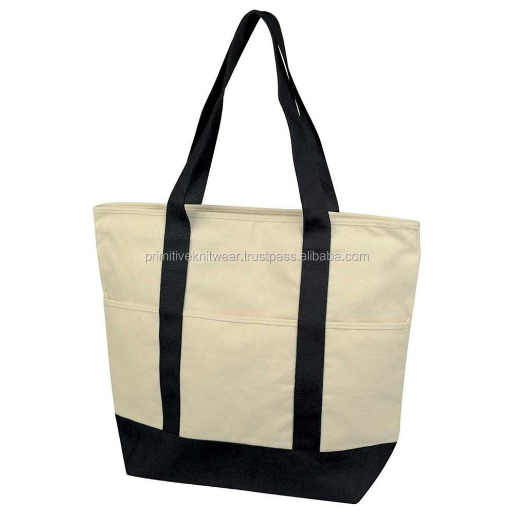 Environment friendly 100% cotton reusable shopping bags
