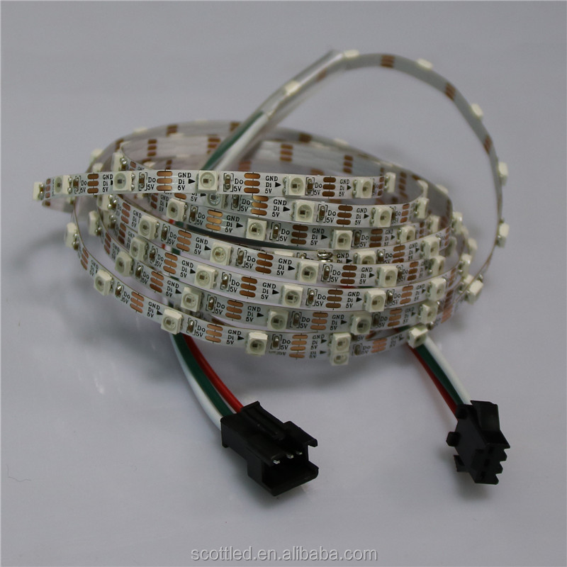 mini 5mm width 60leds/m 60pixel/m led pixel strip input 5v sk6812 5050smd addressable led strip light