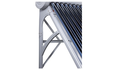 Pressurized 150 l computer controlled solar water heater with adjustable tubes and supports Nippon PS 150E
