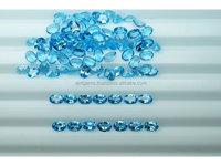 Swiss blue Topaz 10 pieces Oval size 7x5mm eye clean natural gemstone