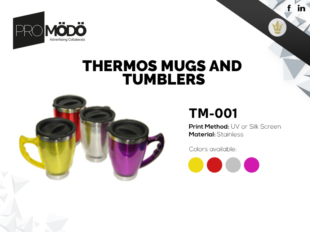 Thermos mugs and Tumblers (THT)