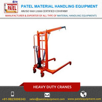 High Grade Hydraulic Mobile Floor Crane at Affordable Price