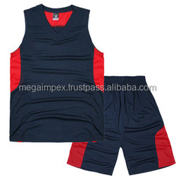High Quality Customized Grey Basketball uniform/ Custom made team basketball kit