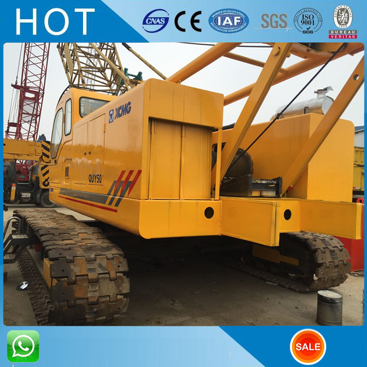Lifting 55 Ton 50 Ton Used China Crawler Crane 2014 Year , Good Computer