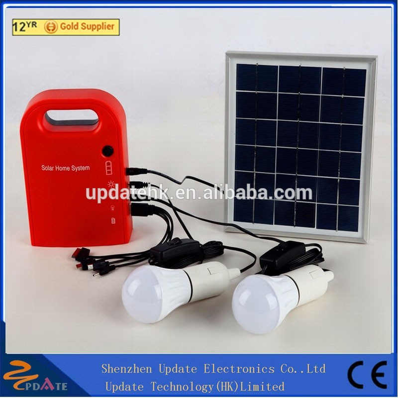Mini Portable all in one 15w solar lighting system /Power system for home use for camping