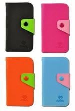 PU Canvas Rainbow Cover Flip Case for TCL Y910