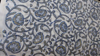 Indian Handmade Natural Dye Sanganeri Fabric Hand Block Printed Cotton Fabric