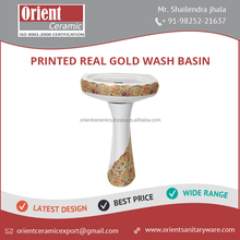 Exclusive Design New Model Printed Real Gold Wash Basin for Sale