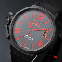 Man Fashion Wrist Men Women Lady Unisex Automatic Mechanical Date Stainless Steel Case Rubber Band DOX Brand Watch Korea Made