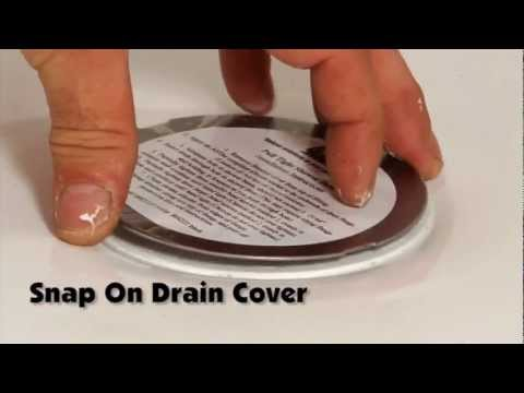 ... BruCo Easy Install Shower Drain   How To Install A Shower Drain With  One Person