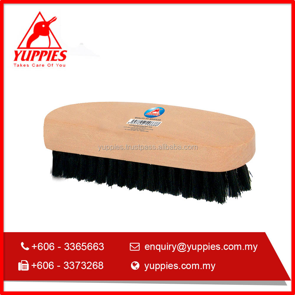 Yuppies Wooden Handle High Quality Shoe Brush with Medium Size